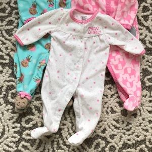Carter's One Pieces - 3 bundle of 3 mo fleece button up onesies